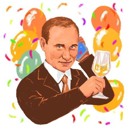 Путин поздравляет по телефону